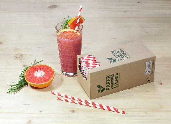 Bunzl´s paper straws are packed in Excellent Top™ Brown and represents a proven sustainable alternative to plastic straws.