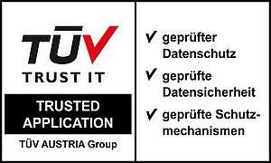 "TÜV-Zertifizierung ""Trusted Application"""